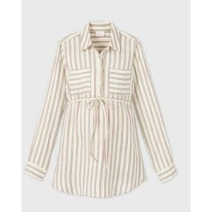 Isabel maternity woven popover stripe tunic